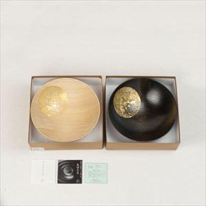 [Set] Pair of Oborozuki bowl / Night moon (Black) & Day moon (Natural) / 6 sun / Hakuichi_Image_3