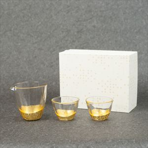 [Set] Gold leaf sake set / Kannyu / Hakuichi