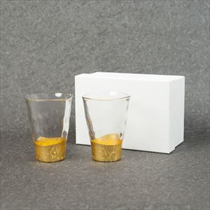 [Set] Pair of Gold leaf glasses / Kannyu / Hakuichi