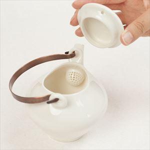 蒼爽 黄磁 土瓶(銅製ツル付) /ceramic japan_Image_1