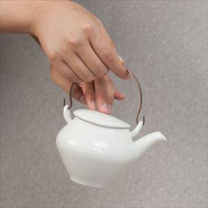 蒼爽 黄磁 土瓶(銅製ツル付) /ceramic japan_Image_2
