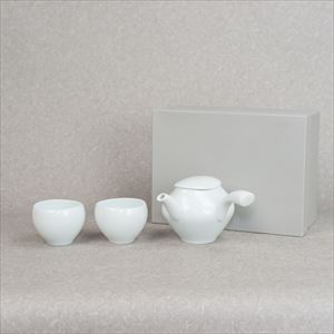 [Set] Kyusu and Yunomi / Tea set / Blueish white porcelain / sou sou series / ceramic japan