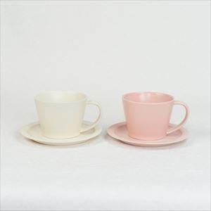 【セット】Sara Coffee Cup & Saucer ピンク&クリーム /SAKUZAN