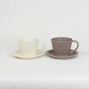 【セット】Sara Coffee Cup & Saucer クリーム&ブラウン /SAKUZAN