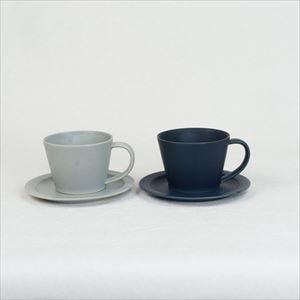 【セット】Sara Coffee Cup & Saucer ネイビー&グレー /SAKUZAN
