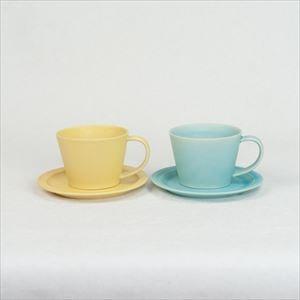【セット】Sara Coffee Cup & Saucer イエロー&ターコイズ /SAKUZAN