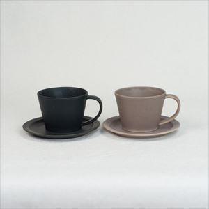 【セット】Sara Coffee Cup & Saucer ブラック&ブラウン /SAKUZAN