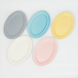 [Set of 5] Oval M plate / Colorful / SAKUZAN