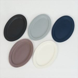 [Set of 5] Oval M plate / Monotone / SAKUZAN