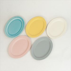 [Set of 5] Oval L plate / Colorful / SAKUZAN