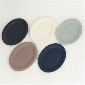 [Set of 5] Oval L plate / Monotone / SAKUZAN