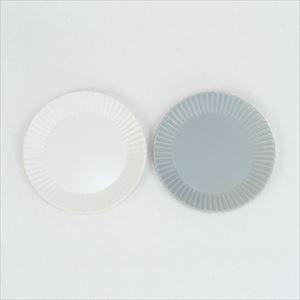 【セット】Stripe プレートM ホワイト&グレー/SAKUZAN