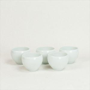 【セット】蒼爽 青白磁 湯呑み(小)5個セット /ceramic japan