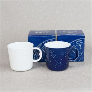 [Set] Pair Constellation mug / Azure blue & White / ceramic japan
