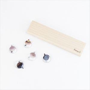 ガラスの箸置き 5点セット3色アソート/hashioki black/fresco
