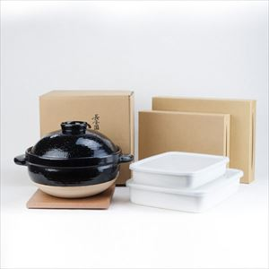 [Set] Easy Nabe party set / Kamado-san 3 rice-cup / Rectangle Shallow M&L_Image_3
