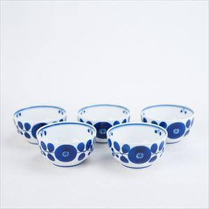 [Set of 5] Dessert cup / Bloom series / Wreath / Hakusan Toki