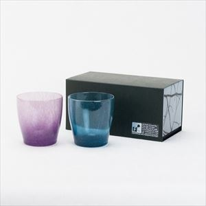 [Set] Pair solito glass / Blue & Purple / fresco