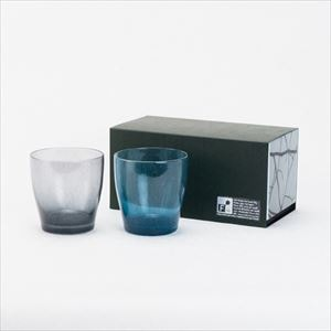 [Set] Pair solito glass / Blue & Grey / fresco
