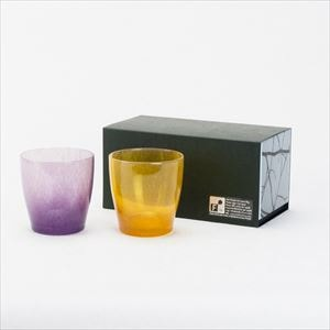 [Set] Pair solito glass / Brilliant gold & Purple / fresco