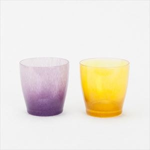 【セット】グラス・コップ ペア/solito glass brilliant gold&purple /fresco_Image_1