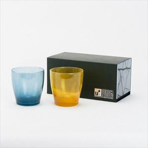 [Set] Pair solito glass / Blue & Brilliant gold / fresco