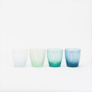 [Set of 4] Cool gradation set / solito glass / fresco