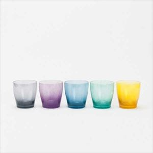 [Set of 5] Urban modern colors set / solito glass / fresco