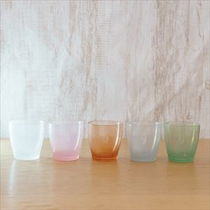 [Set of 5] Pastel colors set / solito glass / fresco