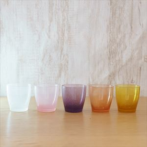 [Set of 5] Warm gradation set / solito glass / fresco