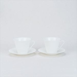[Set] PULSE / 2 Pairs cup and saucer / NIKKO