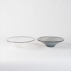 [Set] Pair kasumi bowl / Glass bowl / Ivory & Grey / S / fresco