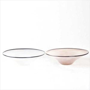 [Set] Pair kasumi bowl / Glass bowl / Ivory & Purple / M / fresco
