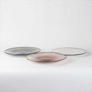 [Set of 3] kasumi plate / Glass plate / M / fresco
