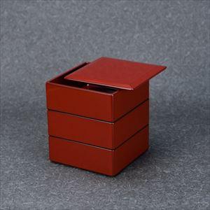 漆の重ね箱・重箱 四方・小小 (4寸5分・3段蓋1枚)/輪島キリモト