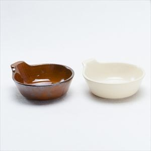 【セット】アグラ とんすいペア 鼈甲(茶)&貫入(白) /4TH-MARKET