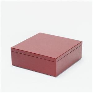 6.5寸 一段重箱 深紅(内黒)