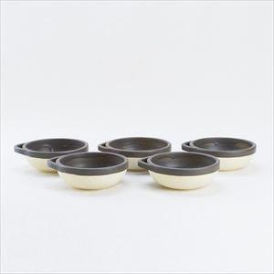 【セット】カセロラ オーブンとんすい 白/茶 5点セット/4TH-MARKET