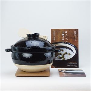 [Set] Official recipe book & Kamado-san / Donabe rice cooker / 5 rice cup / Nagatani-en