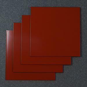 【セット】1尺1寸 角敷膳・折敷 深紅 4枚セット/日本デザインストア