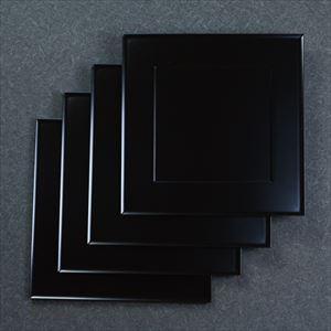 【セット】1尺1寸 懐石敷膳 漆黒 4枚セット/日本デザインストア