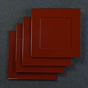 【セット】1尺1寸 懐石敷膳 深紅 4枚セット/日本デザインストア