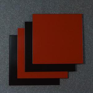 【セット】1尺1寸 角敷膳・折敷 漆黒・深紅ペア 4枚セット/日本デザインストア