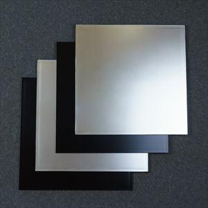 【セット】1尺1寸 角敷膳・折敷 漆黒・銀煌ペア 4枚セット/日本デザインストア
