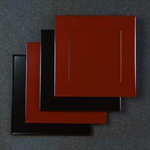 【セット】1尺1寸 懐石敷膳 漆黒・深紅ペア 4枚セット/日本デザインストア