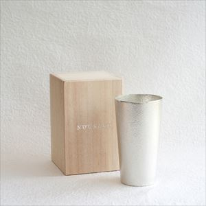 【アウトレット】ビアカップ/能作 桐箱入り 6600円→5900円≪桐箱にキズ・凹み≫