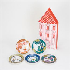 [Set of 5] [Exclusive box] Box set / Moomin JAPAN KUTANI -GOSAI- / Plate / amabro