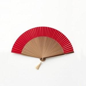 京扇子 赤 桐箱入/WDH