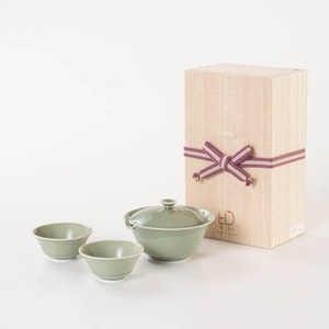 [Paulownia box] Houhin / Tea set / Celadon / WDH