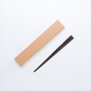 黒檀六角箸 女性用 拭き漆仕上げ/若畑唐木製作所